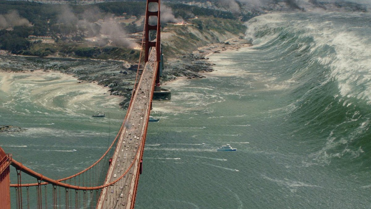 SAN ANDREAS: Earthquakes, Tsunamis, and Teardrops(?)