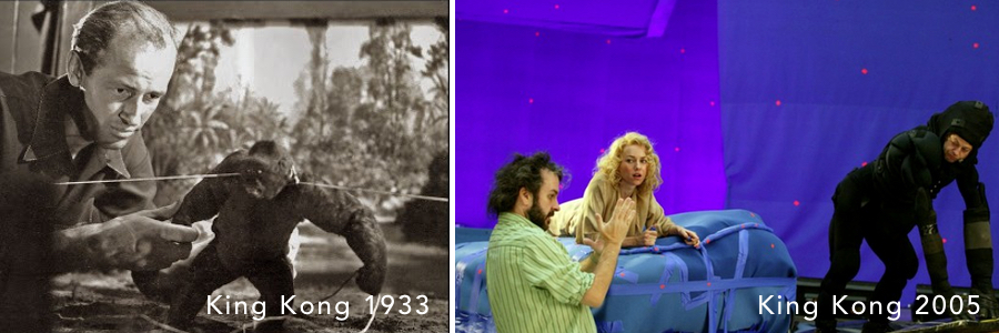 Left: Ray Harryhausen Right: Peter Jackson