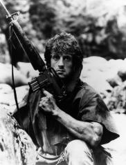 FIRST BLOOD, Sylvester Stallone, 1982, (c) Orion Pictures