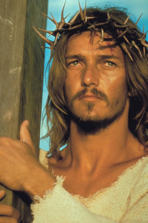 Ted Neeley, Jesus mit Dornenkrone und Kreuz, Musical