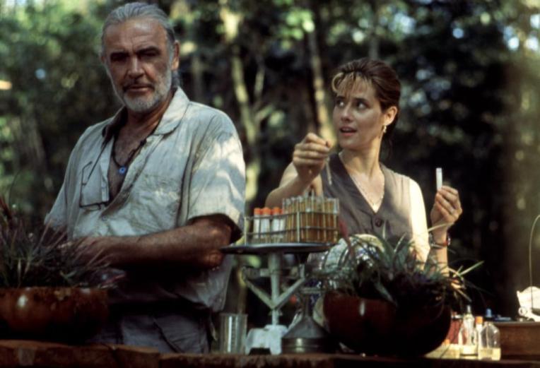 MEDICINE MAN, Sean Connery, Lorraine Bracco, 1992