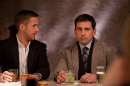 """(L-r) RYAN GOSLING as Jacob and STEVE CARELL as Cal in Warner Bros. Pictures' comedy """"CRAZY, STUPID, LOVE."""" a Warner Bros. Pictures release."""