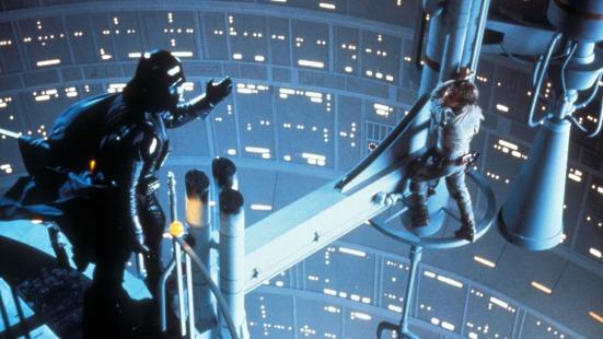 Star Wars Episode V: The Empire Strikes Back (1980) Directed by Irvin Kershner Shown from left: David Prowse (as Darth Vader; voice: James Earl Jones), Mark Hamill (as Luke Skywalker)
