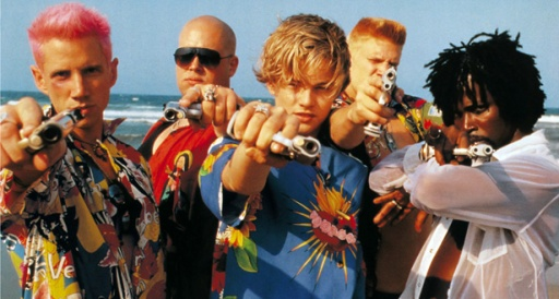 JAMIE KENNEDY, ZAK ORTH, LEONARDO DICAPRIO, DASH MIHOK & HAROLD PERRINEAU Character(s): Sampson, Gregory, Romeo, Benvolio, Mercutio Film 'ROMEO + JULIET ; ROMEO AND JULIET' (1996) Directed By BAZ LUHRMANN 01 November 1996 CTV84952 Allstar/Cinetext/20 CENTURY FOX **WARNING** This photograph can only be reproduced by publications in conjunction with the promotion of the above film. For Editorial Use Only.