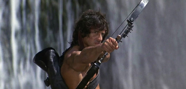 rambo-first-blood-part-ii-sylvester-stallone-compound-bow-kill-review-explosive-arrow