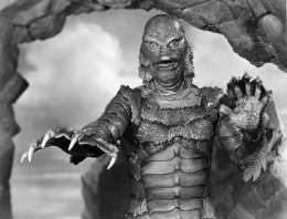 """Handout photo of Ben Chapman in costume for the title character in """"The Creature From the Black Lagoon."""" For obit. of Chapman. E-mail from Bob [mailto:kogar@earthlink.net] via writer Dennis McLellan."""