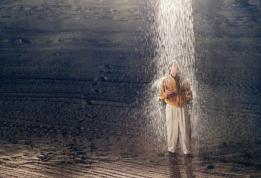 TRUMAN SHOW, Jim Carrey, 1998, rain