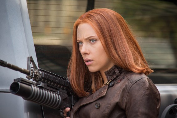 CAPTAIN AMERICA: THE WINTER SOLDIER - 2014 FILM STILL - Black Widow/Natasha Romanoff (Scarlett Johansson) - Photo Credit: Zade Rosenthal /Marvel