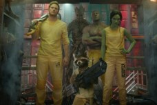 Marvel's Guardians Of The Galaxy..L to R: Star-Lord/Peter Quill (Chris Pratt), Groot (Voiced by Vin Diesel), Rocket Racoon (Voiced by Bradley Cooper), Drax the Destroyer (Dave Bautista) and Gamora (Zoe Saldana). ..?Marvel 2014
