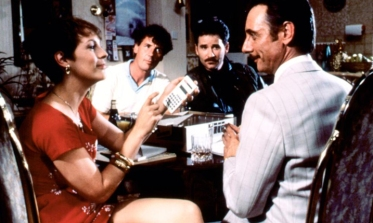 A FISH CALLED WANDA, from left: Jamie Lee Curtis, Michael Palin, Kevin Kline, Tom Georgeson, 1988, © MGM